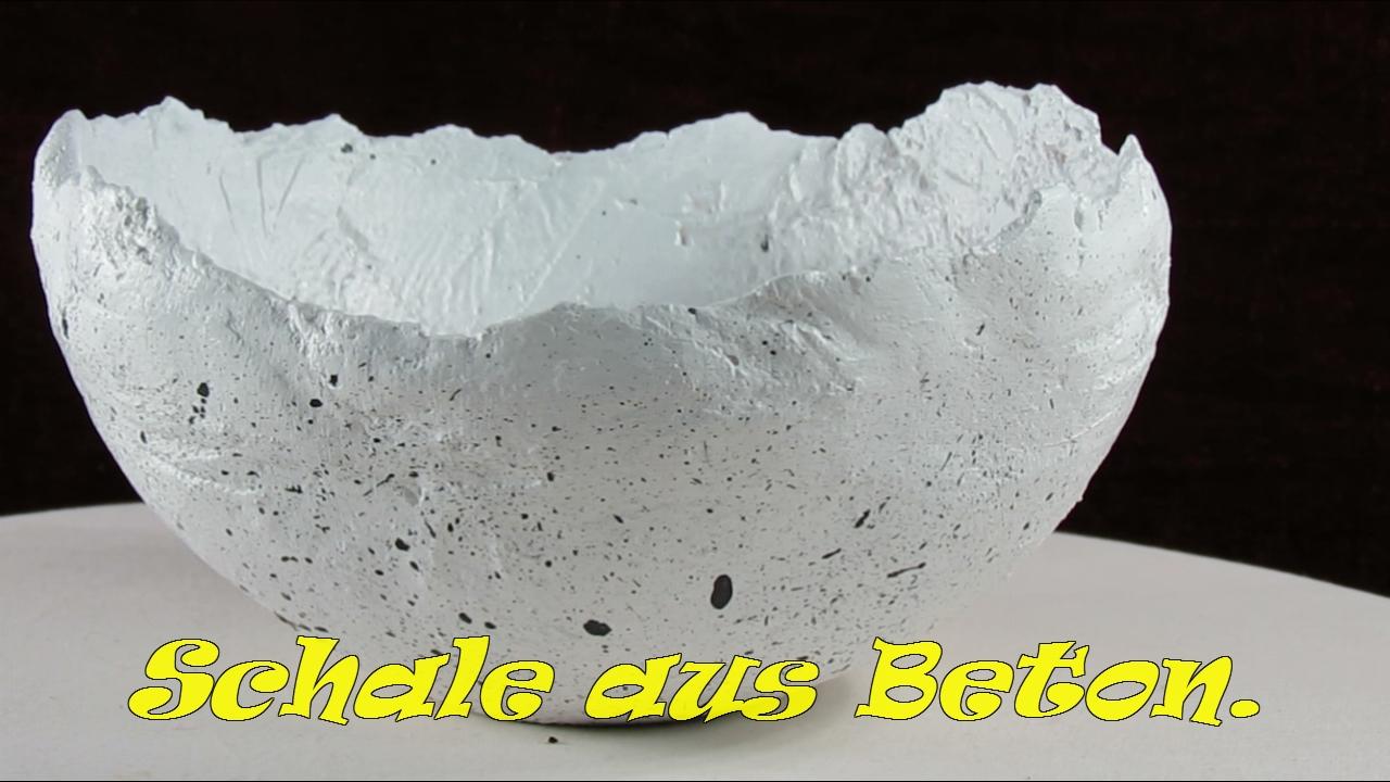 Schale aus Beton selber bastel