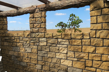 Mauer aus Beton